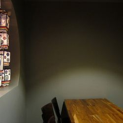 This is a semi-private dining nook
