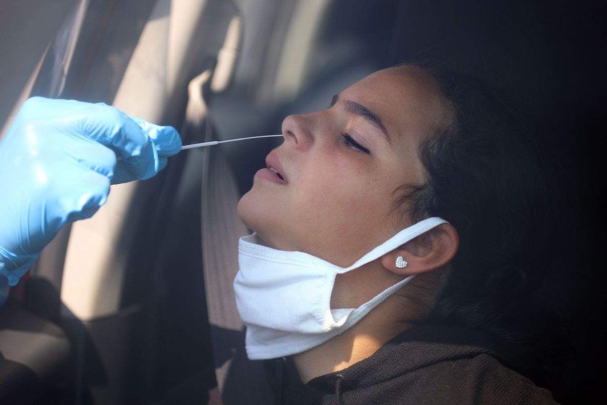 Naomi Bosch gets tested for COVID-19 in Utah.