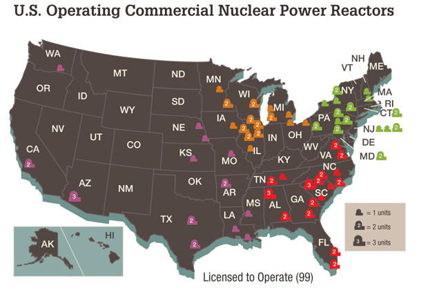 U.S. Operating Commercial Nuclear Power Reactors