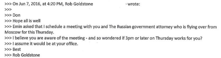 The donald trump jr emails change everything vox and emin agalarov and later arranges a meeting between trump jr and someone he calls the russian government attorney who is flying over from moscow ccuart Gallery