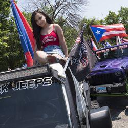 Ulna Soto with Humboldt Park Jeep. | Rick Majewski/For the Sun-Times.