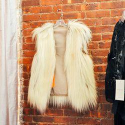 70s-era faux fur vest