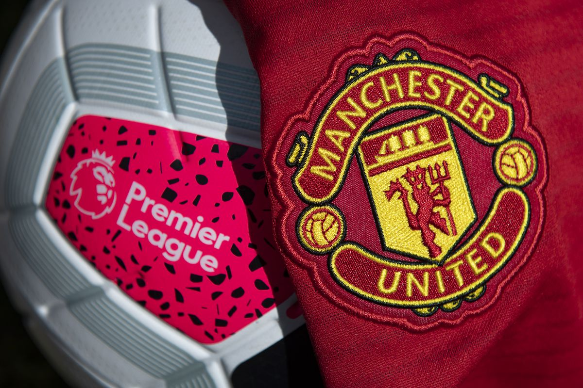 Manchester United Club Crest with the Premier League Match Ball