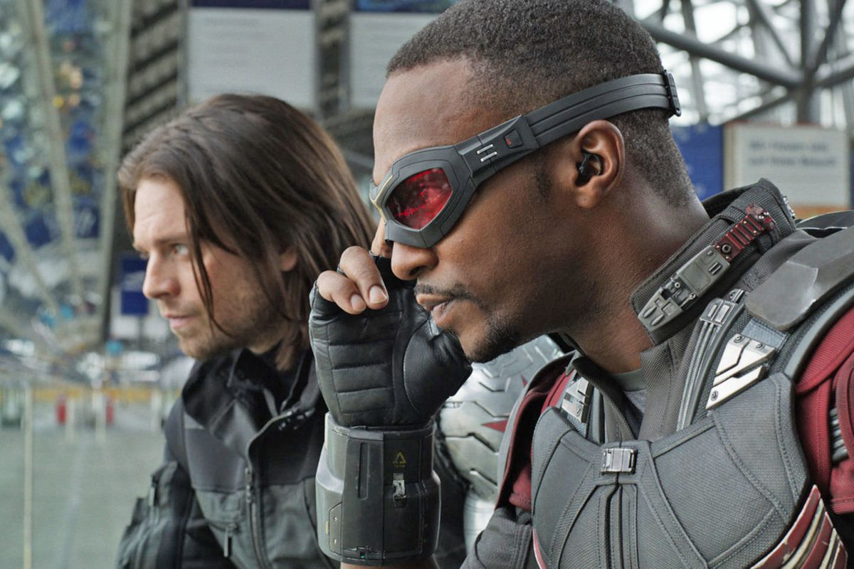 """Sebastian Stan and Anthony Mackie appear in a scene from """"Captain America: Civil War."""""""