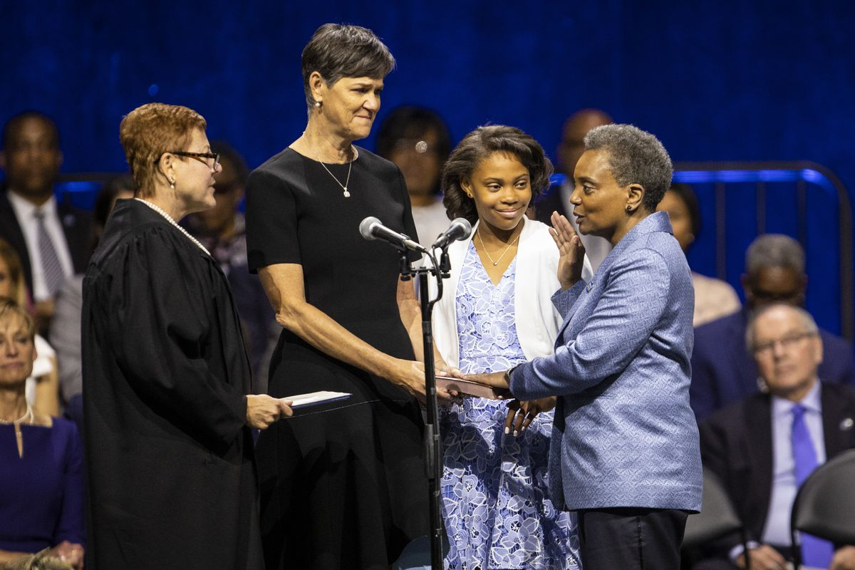 Lightfoot Opens Up About Family As She Celebrates First Anniversary In Office Chicago Sun Times Her wife, amy eshleman, a towering white woman with a short pixie cut, is supportive of lightfoot's political endeavors. lightfoot opens up about family as she