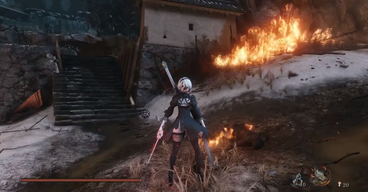 Tech News: Sekiro mod adds the one thing that makes all games better: 2B from Nier - Polygon thumbnail