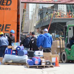 More gear from the Cubs gear truck -