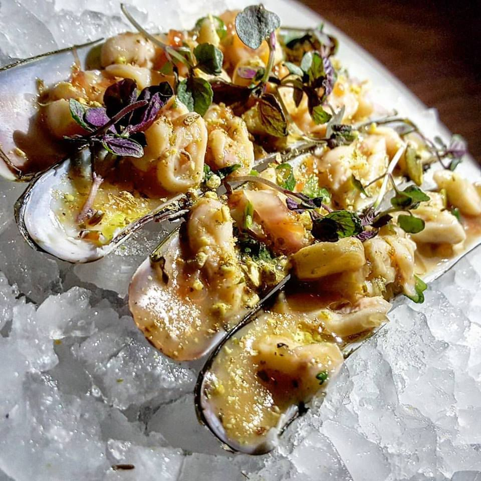 Razor clam ceviche at Little Donkey