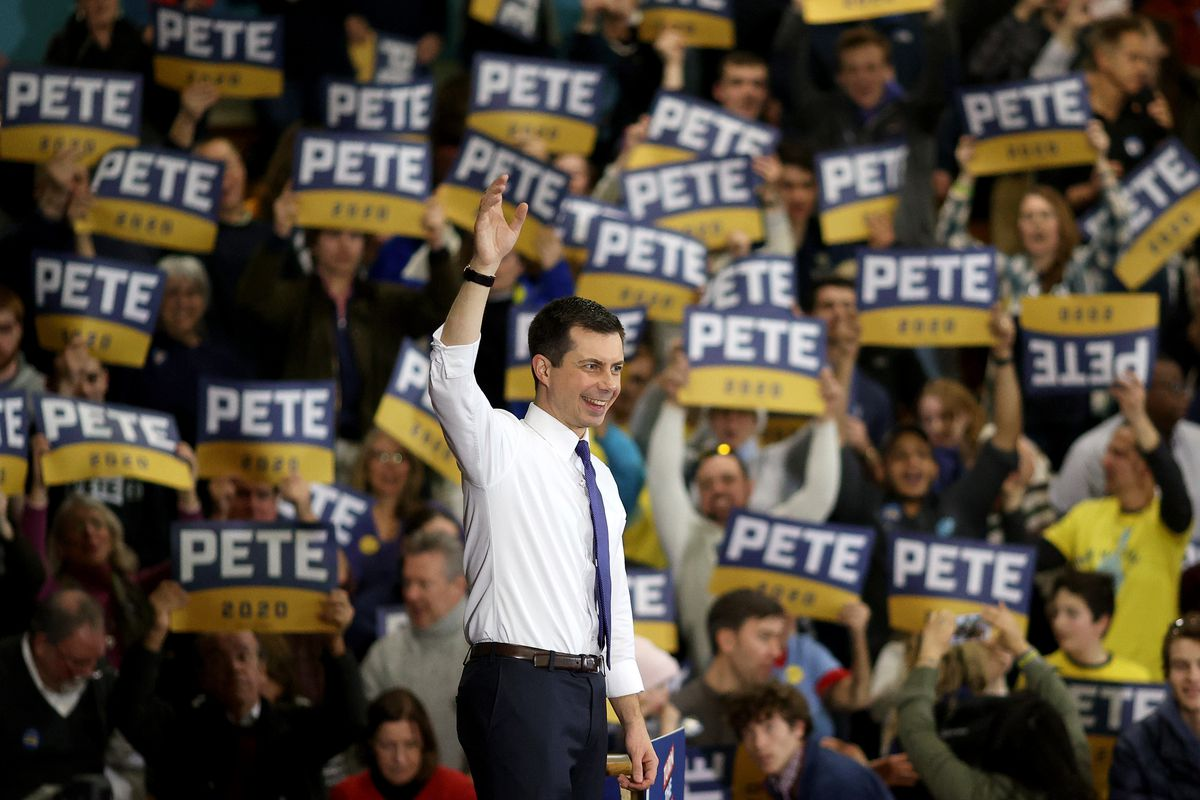 Presidential Candidate Pete Buttigieg Campaigns In New Hampshire Ahead Of Primary