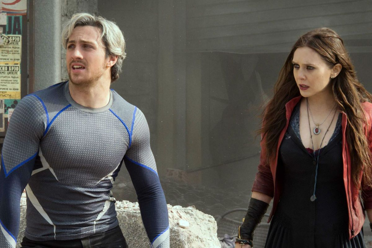 Quicksilver and the Scarlet Witch in Avengers: Age of Ultron