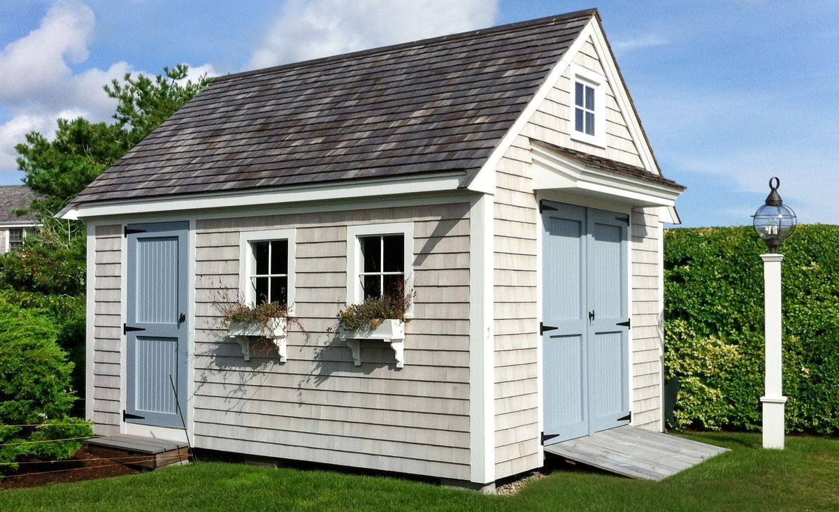 Garden Shed With Steps And Ramp