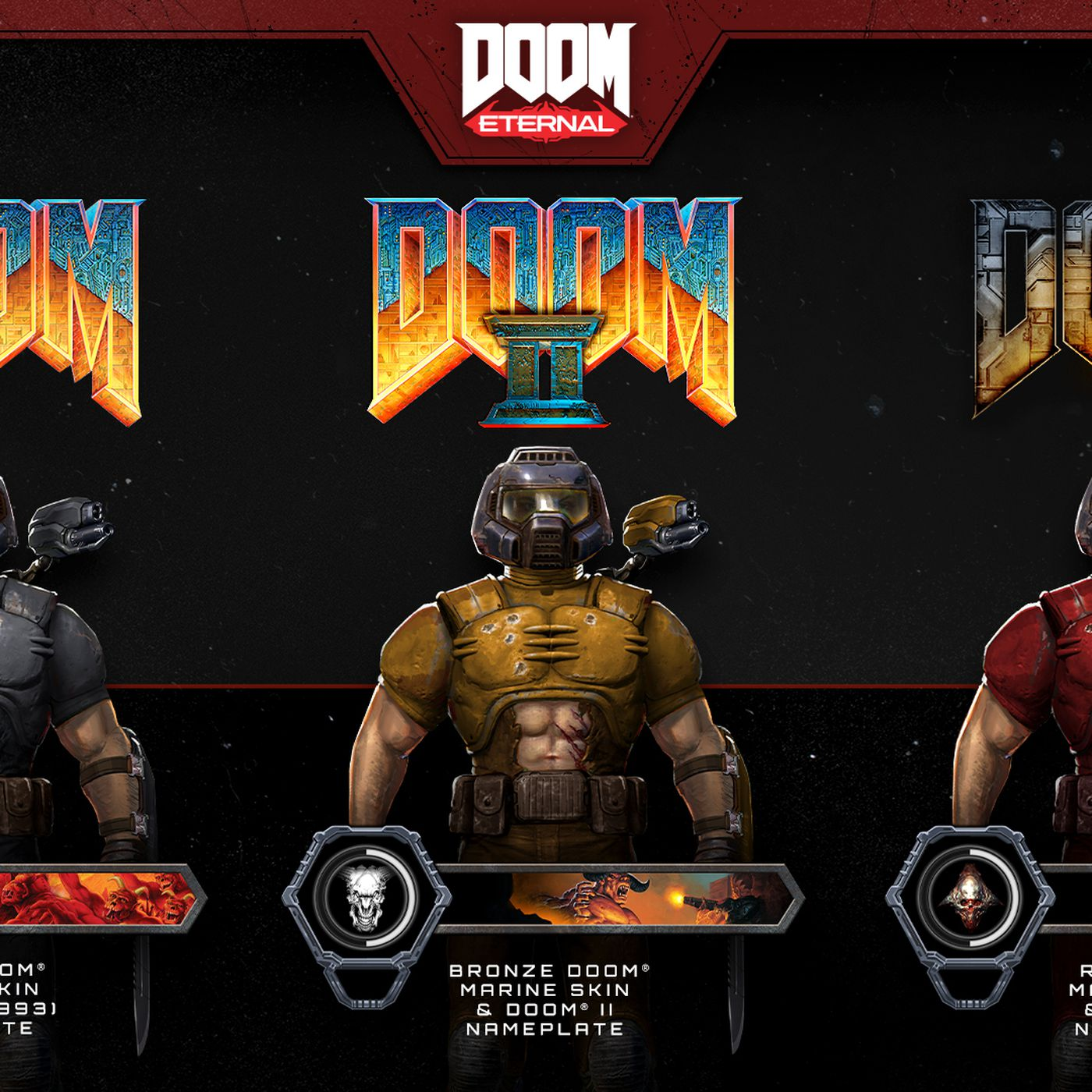 Classic Doomguy Skins For Doom Eternal Include That Sexy Ab Window