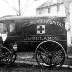 A photo of a Freedmen's Hospital ambulance from the archives of the Freedmen's Bureau that was organized near the end of the American Civil War to assist newly freed slaves in 15 states and the District of Columbia. The LDS Church, FamilySearch.org, the Smithsonian and other groups are partnering to on a project to recruit volunteers to index 1.5 million records from the Freedmen's Bureau archives through discoverfreedmens.org. The goal is to digitize all of the records and make them searchable online within nine months.