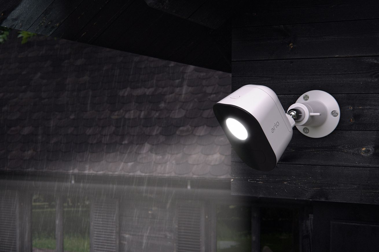netgear is releasing its arlo security light to catch intruders on your lawn