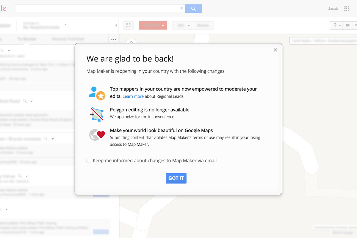 Google Continues To Reopen Map Maker Bringing It Back To 45 Countries Today Including The Us Map Maker Was Shut Down In May After A Series Of Embarrassing