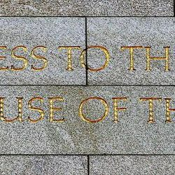 Engraving in stone on the Ogden Utah Temple in Ogden, Tuesday, July 29, 2014.
