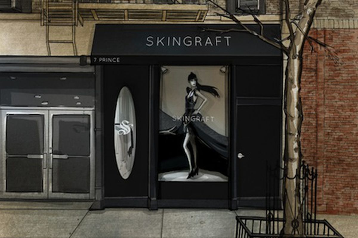 A rendering of the storefront