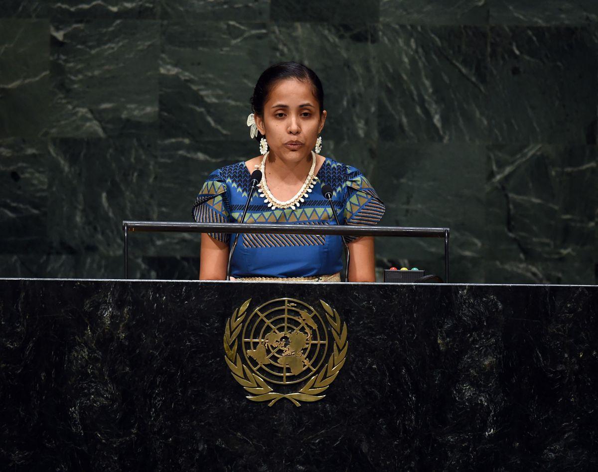 Kathy Jetnil-Kijiner at UN