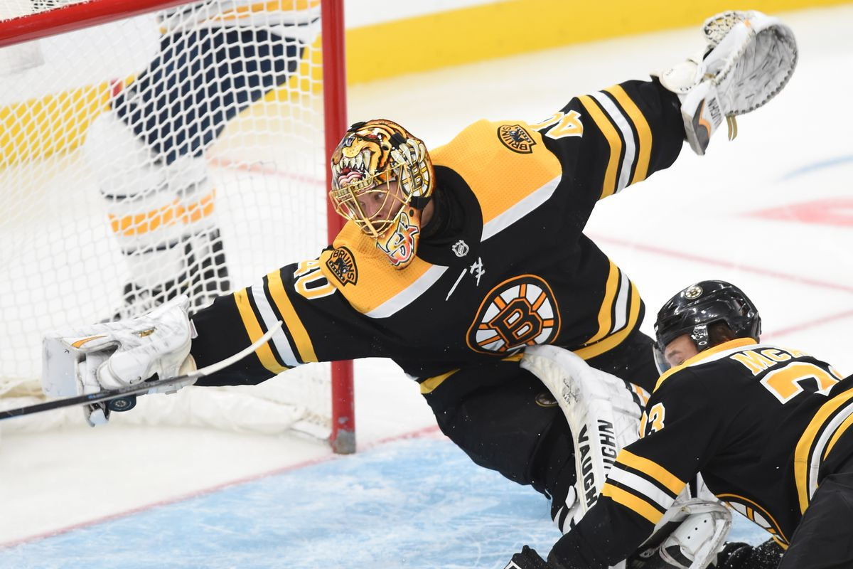 "Tuukka Rask has a ""Save of the Year"" candidate against the Sabres ..."