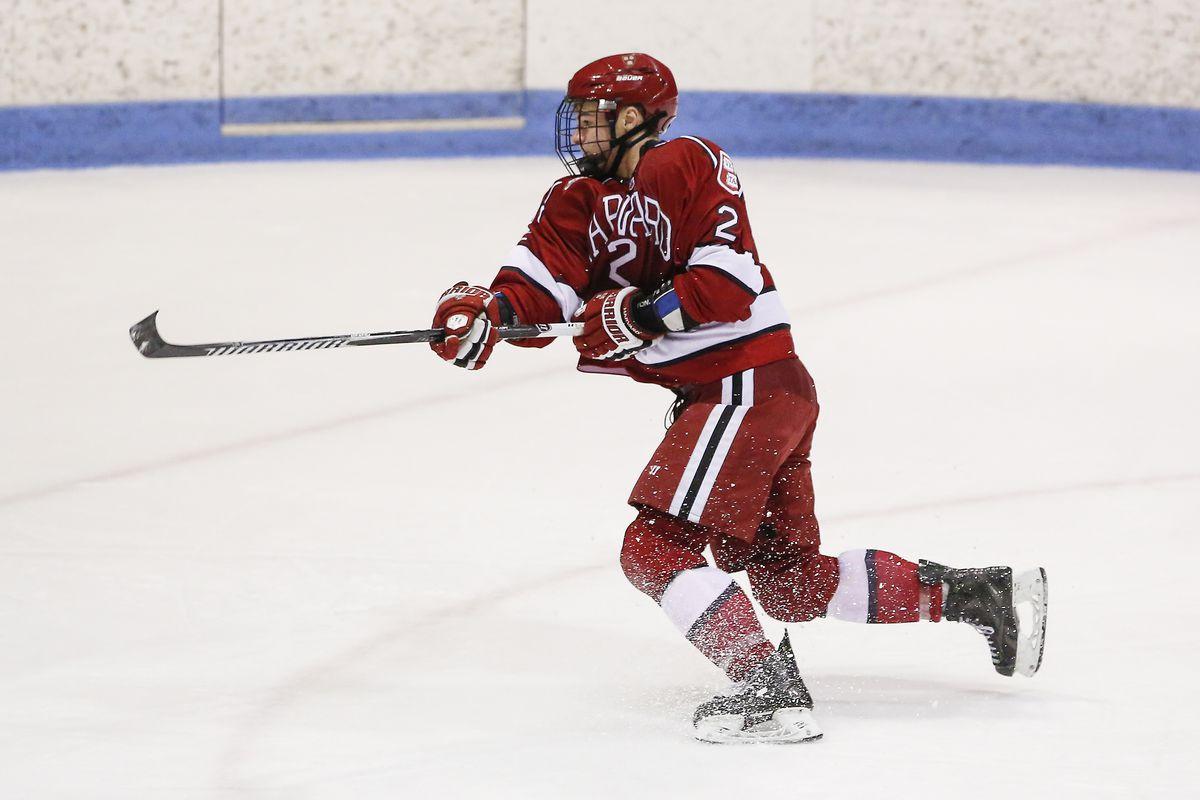 Harvard forward Tyler Moy