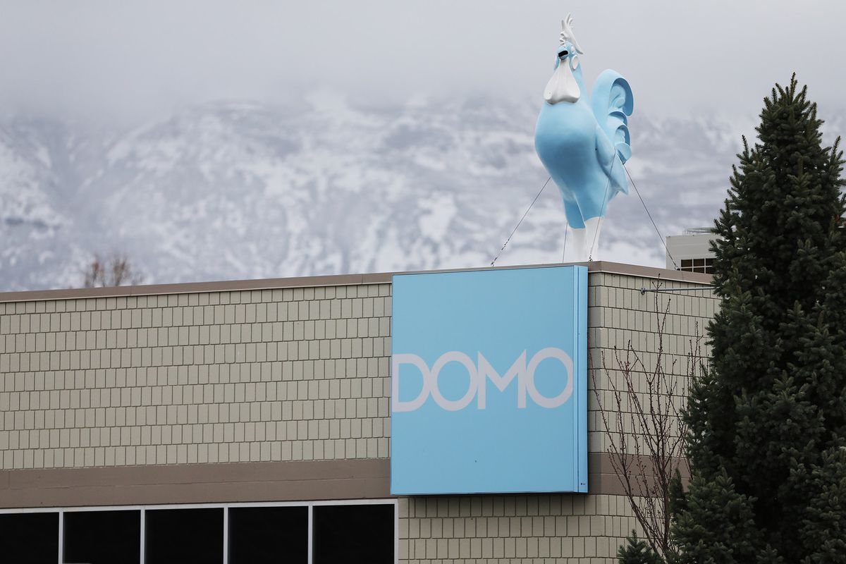 FILE - Domo Technologies in American Fork Wednesday, March 30, 2016.
