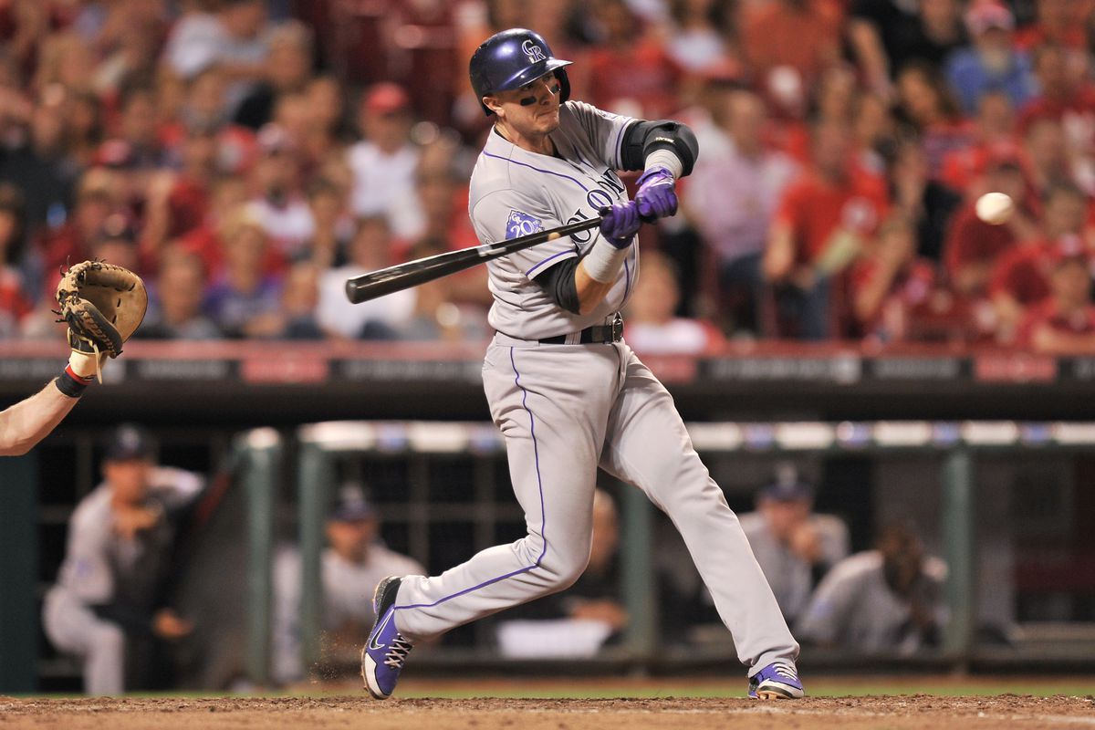 Troy Tulowitzki hit his 13th home run of 2013 to give the Rockies a 5-4 win against the Reds.
