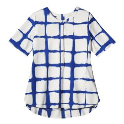 Crepe Blouse in Painterly Blue Plaid, $29.99, (XS-XXL, 1X-3X*) *Target.com Only