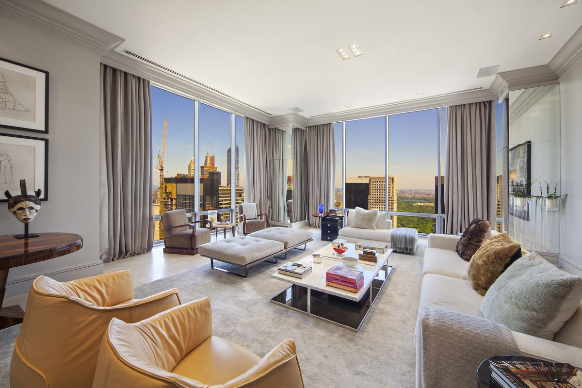 Restrained Olympic Tower Duplex Penthouse Returns For 16 95m Curbed Ny