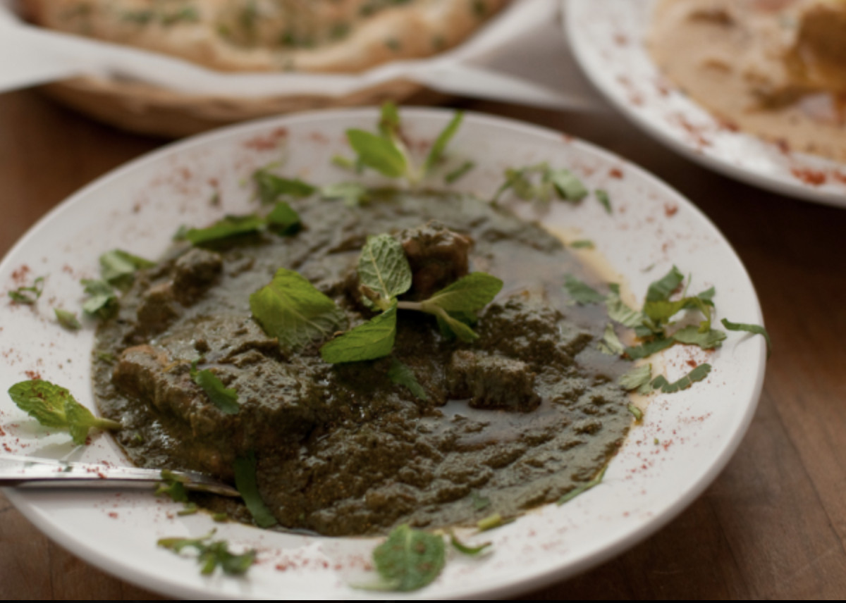 A view of palak paneer from Naan 'N' Curry