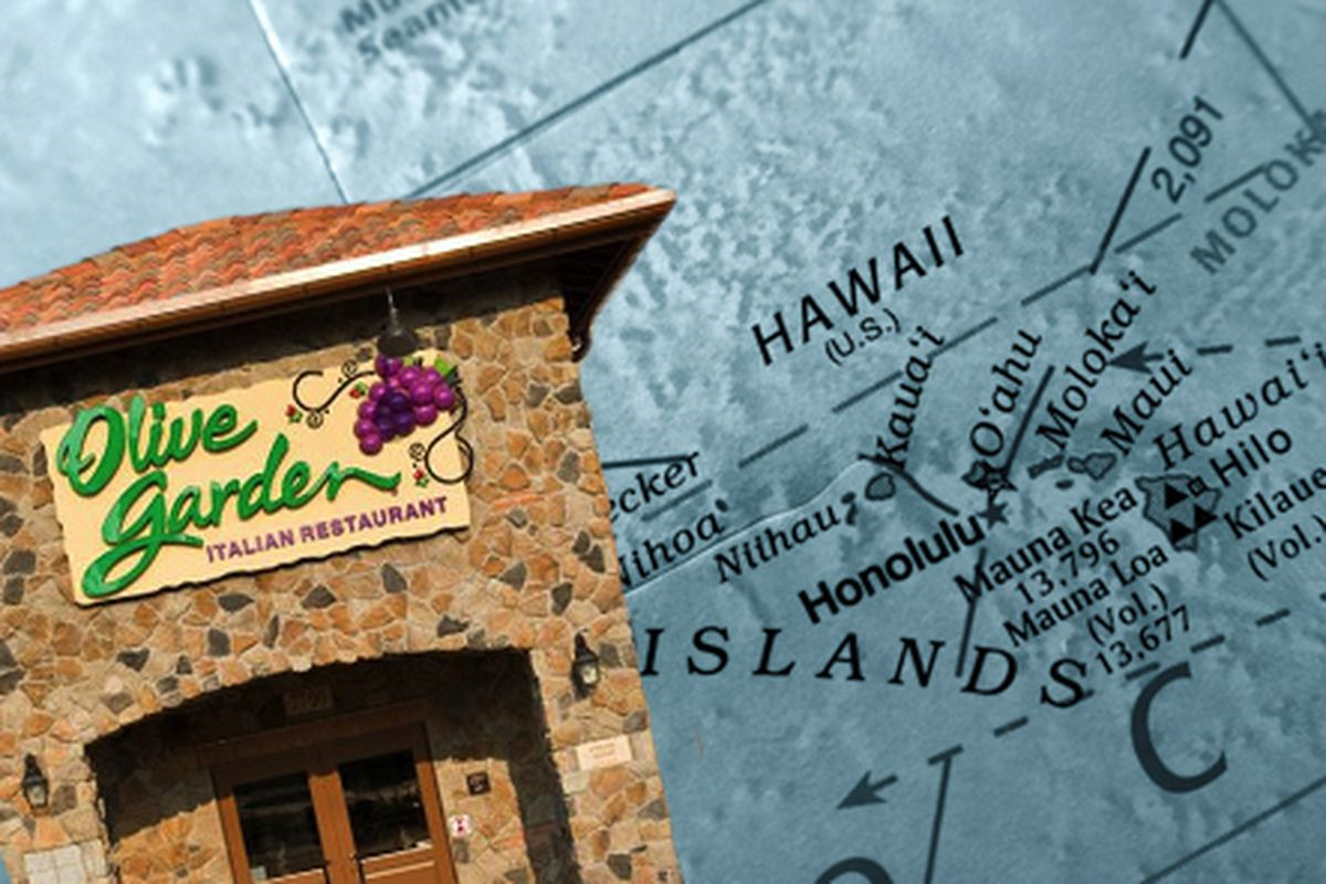 olive garden is opening its first restaurant in hawaii eater