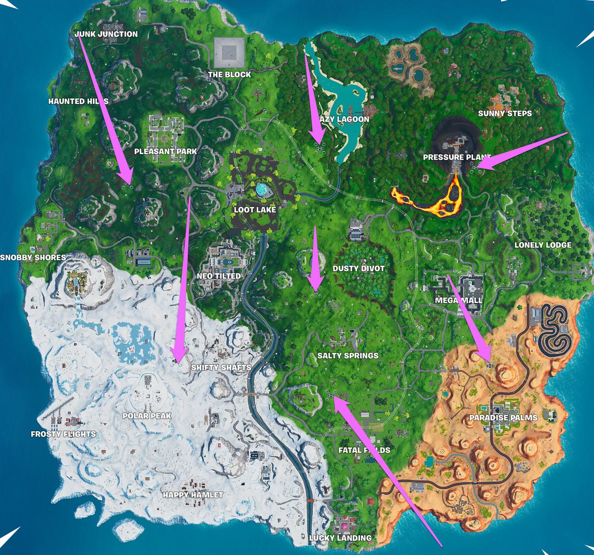 Fortnite Sky Platforms map