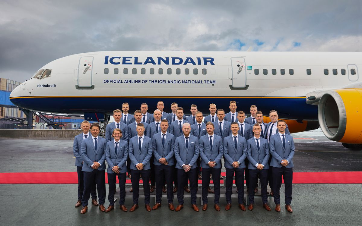 Icelandic National Football Team Depart for their First World Cup