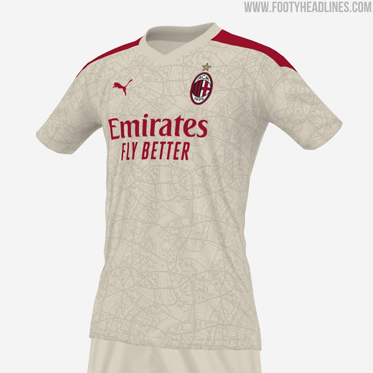 Leaked: AC Milan Away Shirt For 2021-22 Will Feature Maps And A ...