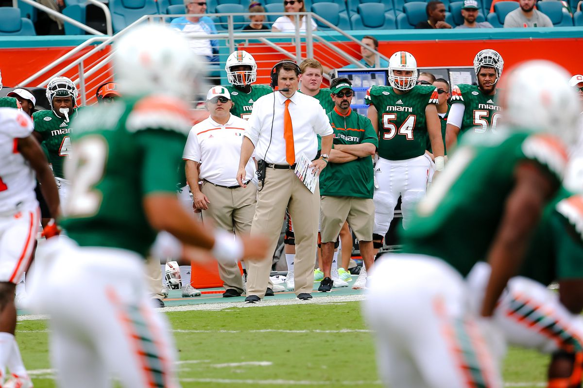 Al Golden watching his Canes en route to the worst loss in the 90 year history of the Miami Hurricanes Football program