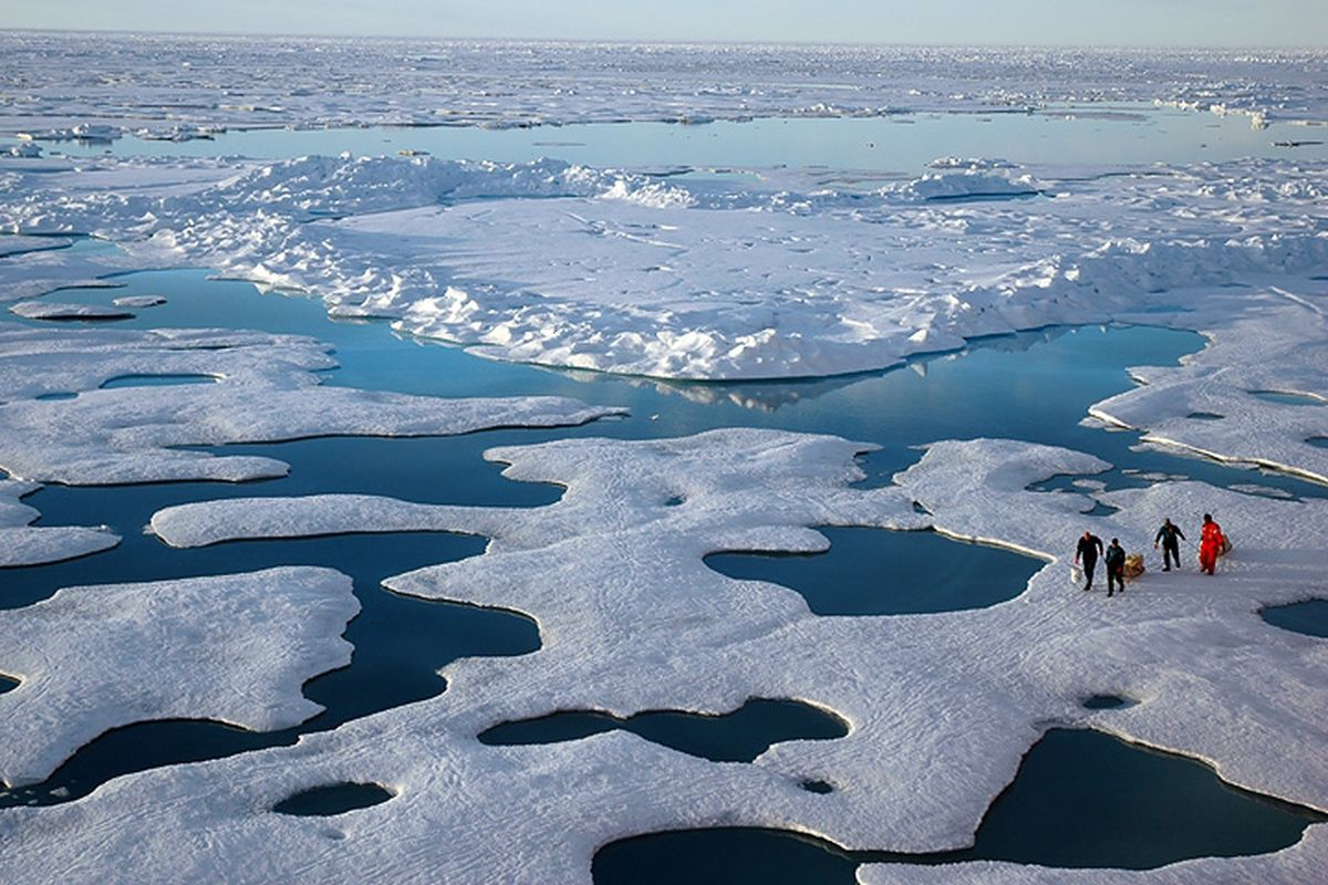 Arctic sea ice loss graph NSIDC