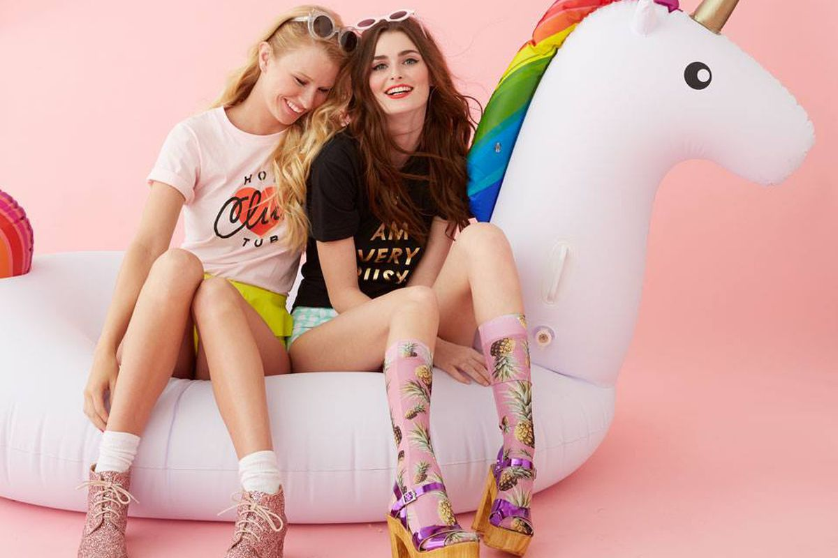 """Ban.do rainbow unicorn float, <a href=""""http://www.bando.com/collections/outdoor-fun/products/rainbow-unicorn-float"""" target=""""new"""">$99</a>"""