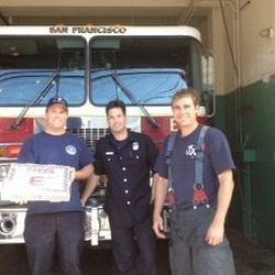 The SF Fire Dept. got some free pizza love.