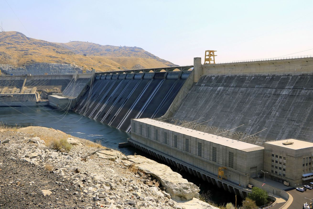 Grand Coulee Dam on the Columbia River in Washington state