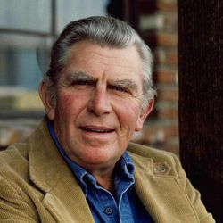 """FILE - This Jan. 1983 file photo shows actor Andy Griffith posing in Los Angeles to promote his upcoming CBS-TV film, """"Murder in Coweta County"""". Andy Griffith led by example on the set of his television show, teaching a 6-year-old boy that true leadership requires not only confidence and hard work but also humility, Academy Award-winning film director Ron Howard said in recorded remarks Sunday during a Griffith tribute at the 23rd annual Mayberry Days celebration in Mount Airy, North Carolina. It's the first Mayberry Days held since Griffith, a native of Mount Airy, died July 3 at the age of 86 at his home in Manteo. The three-day event typically attracts 25,000 to 30,000 people."""