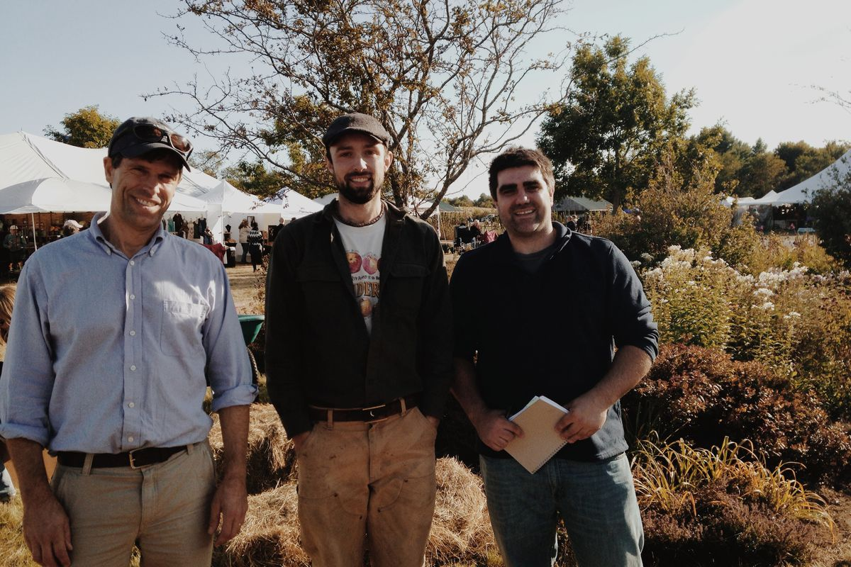 L-R: Future cider producers David Buchanan, Noah Fralich, Roian Atwood.
