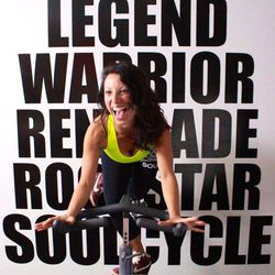 """Heather Anderson, instructor at <a href=""""https://www.soul-cycle.com"""">SoulCycle</a>. <i>Photo: <a href=""""http://arlenewatson.tumblr.com"""">Arlene Watson</a> for Racked</i>"""