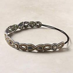 Twinkled Scallops Headband- Anthropologie $32<br />This light and lovely headband is the perfect finishing touch for a ladylike french twist or a loose and sexy up-do. Throw it on with a sleek blazer and jean for a bit of sparkle with your urban uniform.