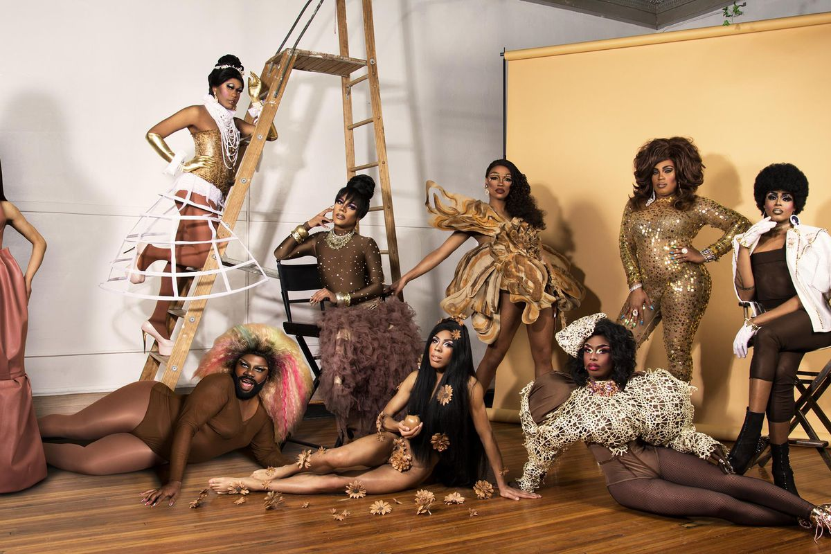 The 2019 cast of Black Girl Magic, a monthly drag show in Boystown celebrating black women.