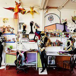 London-based designer Fred Butler's studio.