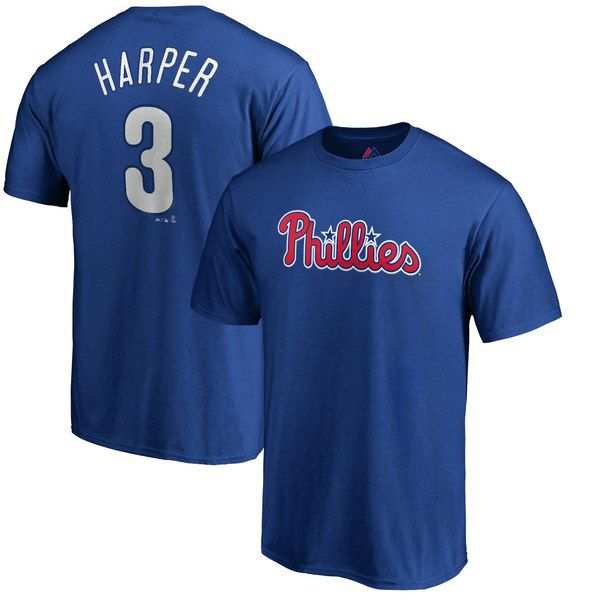 0cf11b36ef5 Bryce Harper Majestic Official Name   Number T-Shirt - Royal for  31.99  Fanatics