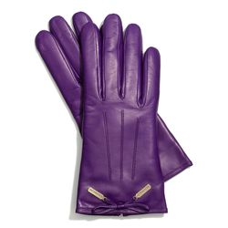 """<a href=""""http://f.curbed.cc/f/Coach_SP_Racked_bowglove"""">Leather Bow Glove</a> in grape, $128"""