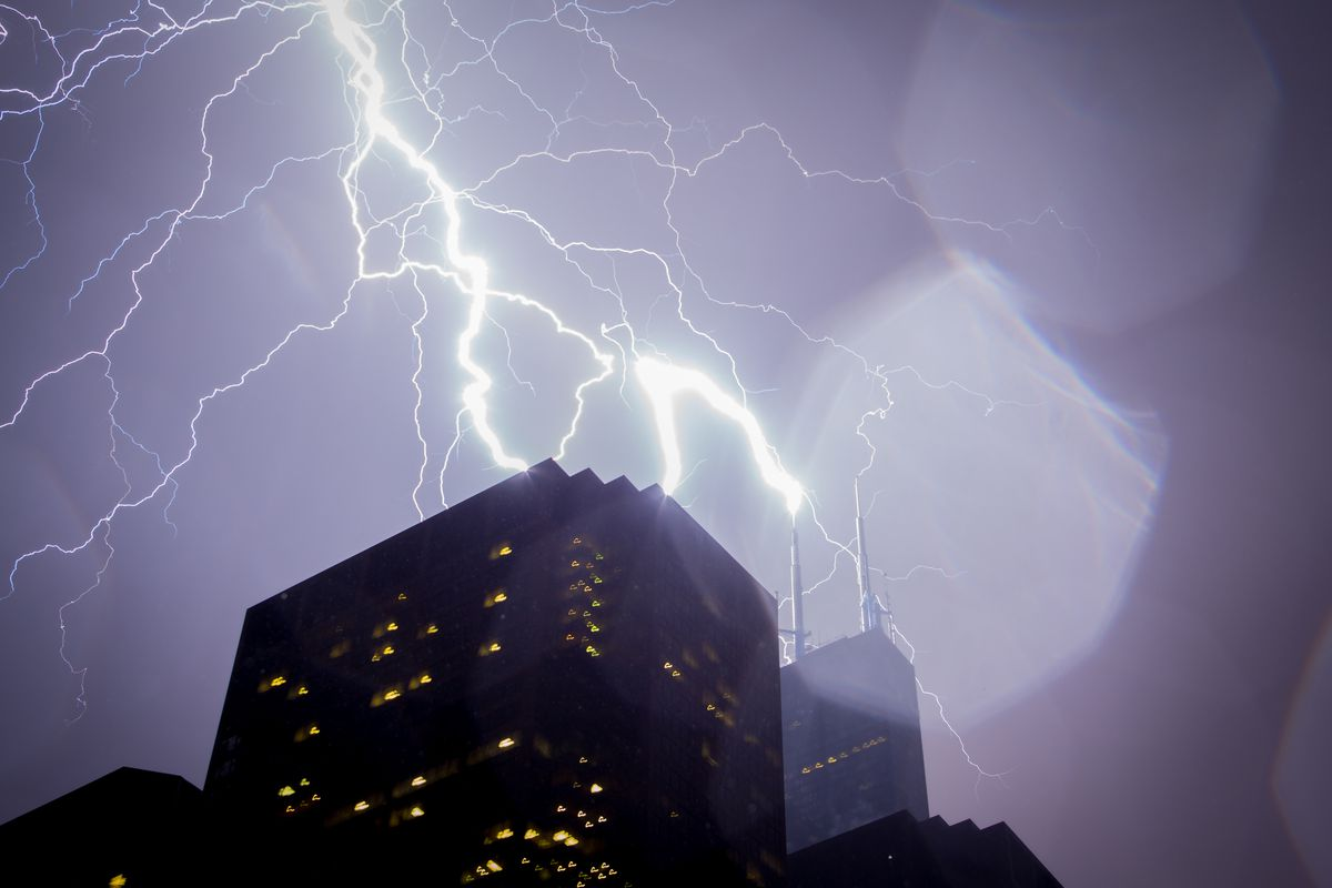 Severe storms expected in the Chicago area, according to the National Weather Service.