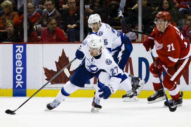 Jonathan Drouin in action Tuesday night against the Detroit Red Wings. (Courtesy of Rick