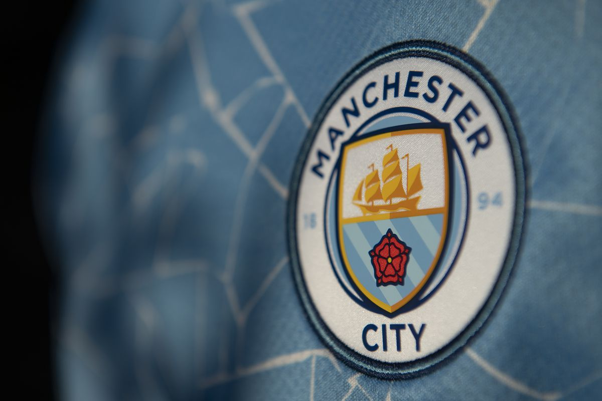 Manchester City Club Badge on the Official Home Shirt