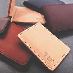 """<strong>Tanner Goods</strong> Leather Wallets, <a href=""""http://www.tannergoods.com/collections/wallets-1"""">$60-$95</a> at Welcome Stranger"""